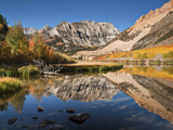 USA  California  Eastern Sierra Fall Color Reflected in North Lake