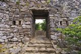 The Stone Entrance to Nakijin Castle  a 14th Century Castle in Okinawa  Japan