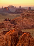 USA  Arizona  Monument Valley  Sunset View from Hunt's Mesa