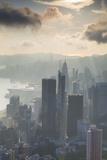 View of Hong Kong Island Skyline at Dawn  Hong Kong  China  Asia