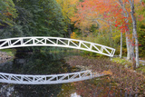 White Footbridge  Autumn  Mount Desert Historical Society  Somesville  Maine  USA