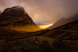 Glencoe Sunset  Scottish Highlands  Scotland  United Kingdom  Europe