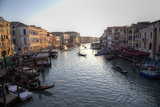 View of Grand Canal  Gondolas and Boats from Rialto Bridge  Venice  Italy