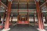 Vivid Colours of Imperial Throne Hall (Geunjeongjeon) Interior  Seoul  South Korea