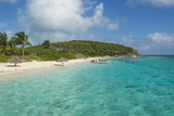 Turquoise Waters and a White Sand Beach  Exumas  Bahamas  West Indies  Caribbean  Central America