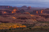 View from Atop Hunt's Mesa in Monument Valley Tribal Park of the Navajo Nation  Arizona and Utah