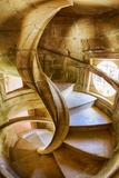 Portugal  Tomar  Spiral Stone Staircase in Convento De Cristo