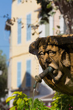Fountain in the Form of a Man in Cassis Old Town  Cassis  Provence  France  Europe