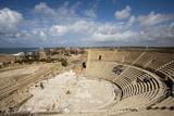 The Theater of Caesarea on the Shores of the Mediterranean Sea  Caesarea  Israel