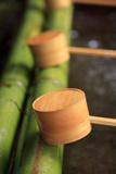 Wooden Ladles at the Entrance to the Kasuga-Taisha Shrine in Nara  Japan