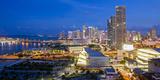 Elevated View over Biscayne Boulevard and the Skyline of Miami  Florida  United States of America