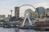 Rainbow Pattern Seattle Ferris Wheel Honoring Supreme Court Gay Marriage Decision