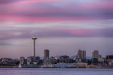 Wa  Seattle  Space Needle and Elliott Bay from West Seattle