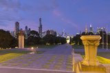 Skyline from Shrine of Remembrance at Dusk  Melbourne  Victoria  Australia  Pacific