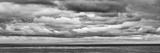 USA  California  San Diego  Panoramic Black-And-White View of Clouds over Pacific Ocean