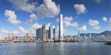 International Commerce Centre (Icc) and Hong Kong Island Skyline  Hong Kong  China  Asia