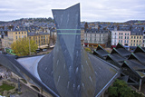 Joan of Arc Church Roof  and Ancient Market Place  Rouen  Normandy  France  Europe