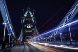 Light Trails on London Bridge in the Evening  London  United Kingdom  Europe