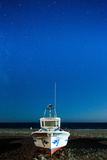 Fishing Boat under the Stars  Cabo De Gata  Andalusia  Spain  Europe