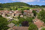 Panorama of Lavaudieu  a Medieval Village  Auvergne  Haute Loire  France  Europe