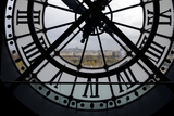 View Through Clock Face from Musee D'Orsay Toward Montmartre  Paris  France  Europe