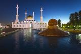 Nur Astana Mosque at Dusk  Astana  Kazakhstan  Central Asia