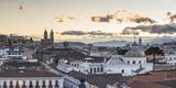Old City of Quito  Historic Centre  Showing La Basilica Church  Ecuador  South America