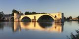 Bridge St Benezet over Rhone River at Sunset  Provence-Alpes-Cote D'Azur