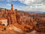 USA  Utah  Bryce Canyon National Park Thor's Hammer Rises Above Other Hoodoos