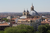 Basilica De San Francisco El Grande from the Rooftop of Catedral De La Almudena in Madrid  Spain