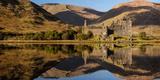Kilchurn Castle Reflected in Loch Awe  Strathclyde  Scotland  United Kingdom  Europe