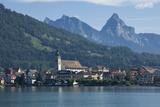 Arth  on Zugger See  with Kleine and Grosser Mythen  1898M  Arth  Switzerland  Europe