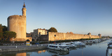 Tour De Constance Tower and City Wall at Sunset  Languedoc-Roussillon