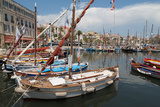 Traditional Fishing Boats Moored in the Harbour at Sanary-Sur-Mer  Provence  France  Europe