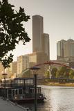 Rialto Towers Along Yarra River  Melbourne  Victoria  Australia  Pacific