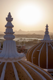 Domes of Deogarh Mahal Palace Hotel at Dawn  Deogarh  Rajasthan  India  Asia