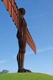 Angel of the North  by Antony Gormley  Gateshead  Tyne and Wear  England  United Kingdom  Europe