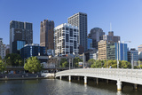Melbourne Skyline Along Yarra River  Melbourne  Victoria  Australia  Pacific
