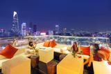 Rooftop Bar at Silverland Central Hotel and Spa  Ho Chi Minh City (Saigon)  Vietnam  Indochina