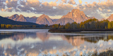 Mount Moran and Teton Range from Oxbow Bend  Grand Tetons National Park  Wyoming
