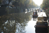 Canal Boats on the Regent's Canal  Little Venice  London  England  United Kingdom  Europe