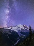 Washington  White River Valley Looking Toward Mt Rainier on a Starlit Night with the Milky Way