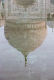Reflection of the Dome of the Taj Mahal  Agra  Uttar Pradesh  India  Asia