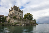 Chateau on the Lake Edge at the Medieval Village of Yvoire  France
