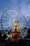 Ferris Wheel and the Fountain at Erzsebet Square  Budapest  Hungary  Europe