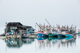 Shrimp Fishing Boats and House  Koh Phangan  Thailand  Southeast Asia  Asia