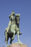 A Statue of Joan of Arc Riding Her Horse in Place Du Martroi  Orleans  Loiret  France  Europe