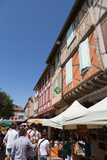 Traditional Outdoor Market in the Historic Town of Mirepoix  Languedoc-Roussillon  France  Europe
