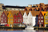 Traditional Wooden Hanseatic Merchants Buildings of the Bryggen  in Harbour  Bergen  Norway