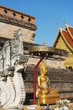 Buddha Statue  Wat Chedi Luang Worawihan Temple  Chiang Mai  Thailand  Southeast Asia  Asia
